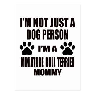Miniature Bull Terrier.png Postcard