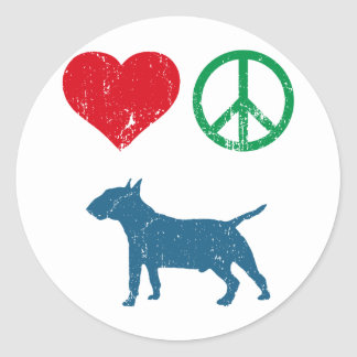 Miniature Bull Terrier Round Sticker