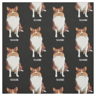Miniature Collie Custom Fabric