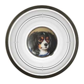 MINIATURE DOG PORTRAITS Tricolor Spaniel Pet Bowl
