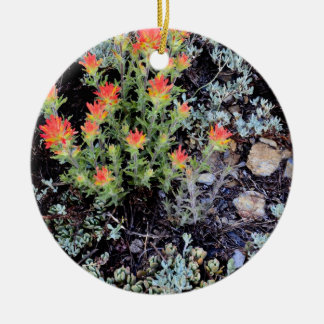 Miniature Garden at Gem Lake Round Ceramic Decoration