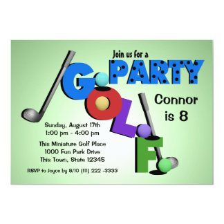 Miniature Golf Party 13 Cm X 18 Cm Invitation Card