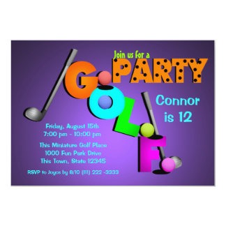 Miniature Golf Party Card