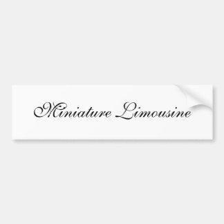 miniature limousine car bumper sticker