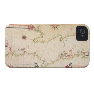 Miniature Nautical Map of the Adriatic, 1624 (parc iPhone 4 Cover