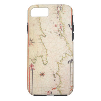 Miniature Nautical Map of the Adriatic, 1624 (parc iPhone 8/7 Case