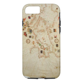 Miniature Nautical Map of the Central Mediterranea iPhone 8/7 Case