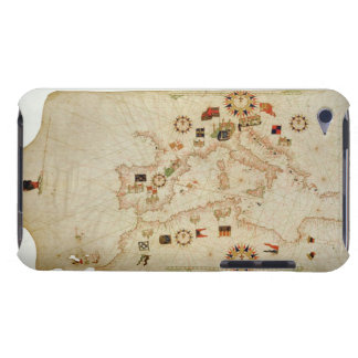 Miniature Nautical Map of the Central Mediterranea iPod Touch Covers