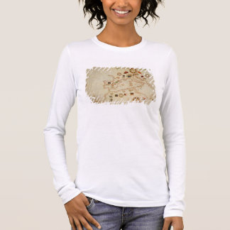 Miniature Nautical Map of the Central Mediterranea Long Sleeve T-Shirt