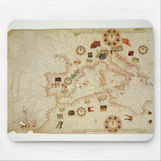 Miniature Nautical Map of the Central Mediterranea Mouse Mat