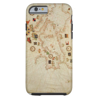 Miniature Nautical Map of the Central Mediterranea Tough iPhone 6 Case