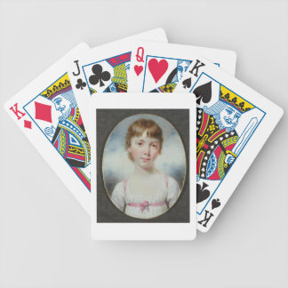 Miniature of a young girl bicycle card decks