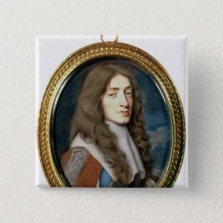 Miniature of James II as the Duke of York, 1661 15 Cm Square Badge