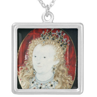 Miniature of Queen Elizabeth I Silver Plated Necklace