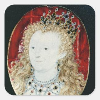 Miniature of Queen Elizabeth I Square Sticker