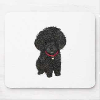 Miniature or Toy Poodle - Black 1 Mouse Mat