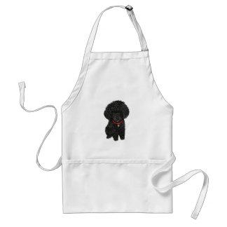 Miniature or Toy Poodle - Black 1 Standard Apron