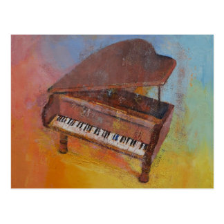 Miniature Piano Postcard