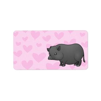 Miniature Pig Love Address Label