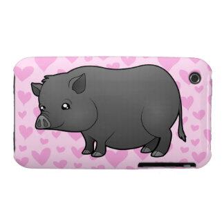 Miniature Pig Love Case-Mate iPhone 3 Case