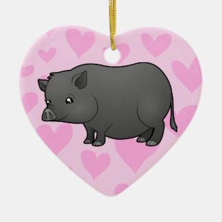 Miniature Pig Love Christmas Ornament