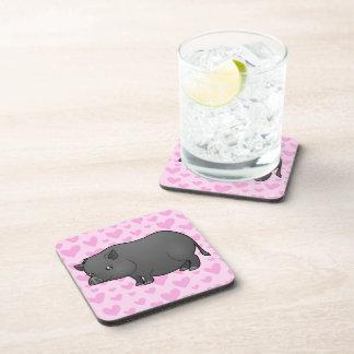 Miniature Pig Love Coaster