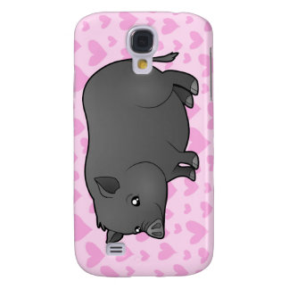 Miniature Pig Love Galaxy S4 Case