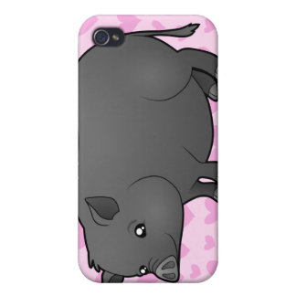Miniature Pig Love iPhone 4 Case