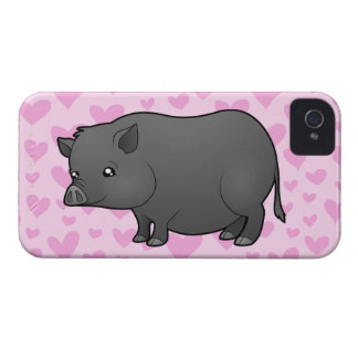 Miniature Pig Love iPhone 4 Covers