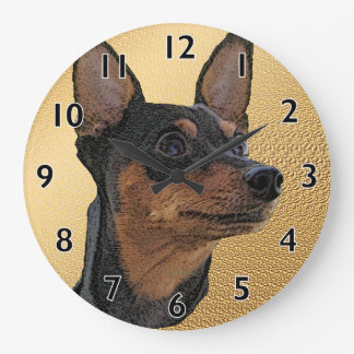 Miniature Pinscher Art Wall Clock