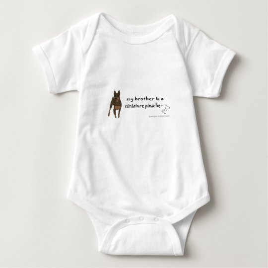 miniature pinscher baby bodysuit