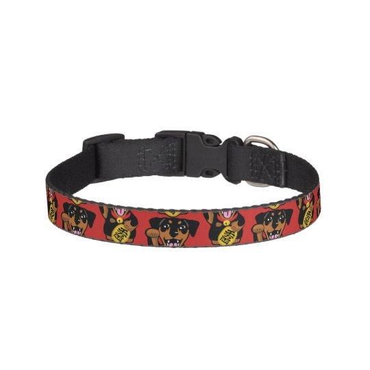 Miniature Pinscher Black Min Pin Small Dog Collar