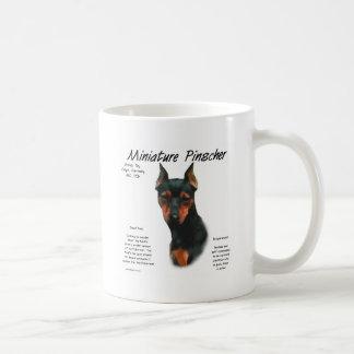 Miniature Pinscher (blk/rust) History Design Basic White Mug