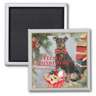 Miniature Pinscher Christmas Magnets