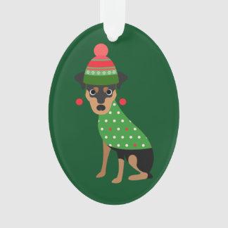 Miniature Pinscher Christmas Ornament