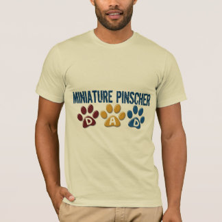 MINIATURE PINSCHER Dad Paw Print 1 T-Shirt