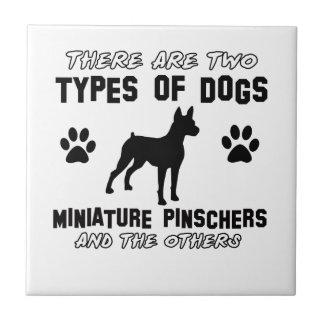 Miniature Pinscher dog breed designs Ceramic Tile