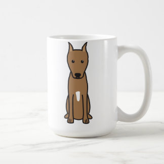 Miniature Pinscher Dog Cartoon Coffee Mug