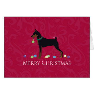 Miniature Pinscher Greetings Greeting Card