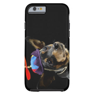 Miniature Pinscher in costume. Tough iPhone 6 Case
