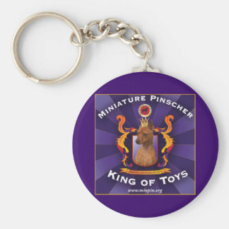 Miniature Pinscher, King of Toys Basic Round Button Key Ring