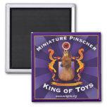 Miniature Pinscher, King of Toys Fridge Magnet