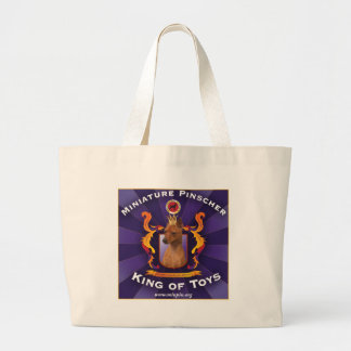Miniature Pinscher, King of Toys Large Tote Bag