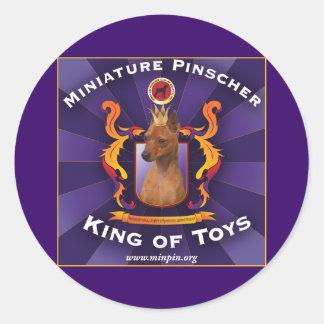 Miniature Pinscher, King of Toys Round Sticker