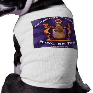 Miniature Pinscher, King of Toys Sleeveless Dog Shirt
