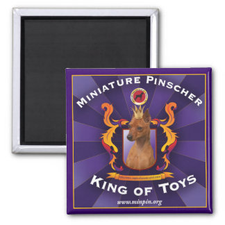 Miniature Pinscher, King of Toys Square Magnet