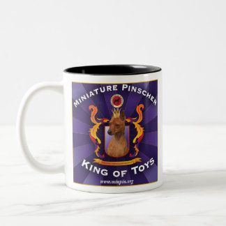 Miniature Pinscher, King of Toys Two-Tone Coffee Mug