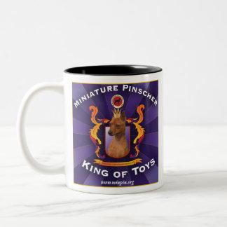 Miniature Pinscher, King of Toys Two-Tone Mug