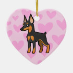 Miniature Pinscher / Manchester Terrier Love Ceramic Heart Decoration