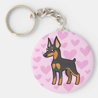 Miniature Pinscher / Manchester Terrier Love Key Ring